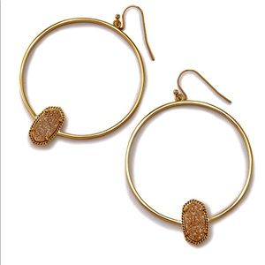 Kenda Scott Necklace and Hoop Earrings